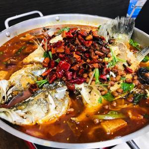 四川水煮魚を始めて食べてみた