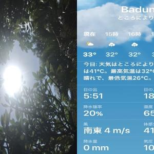 暑い!現在体感温度41℃‼