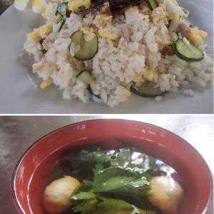 2020.01.28 バリ島ぼっち自宅ランチは「ツナとたまごのちらし寿司+わかめバッソすまし汁」