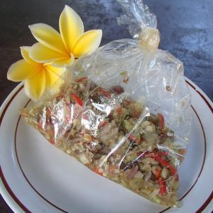 大好きなサンバルマタ(バリ島の生チリ和え)もパサールパギで♥
