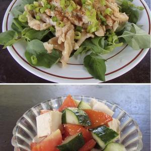 2020.07.13 バリ島ぼっち自宅ランチは「鶏皮ポン酢+イタリアンカラー・サラダ」