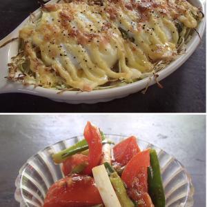2020.09.23 バリ島ぼっち自宅ランチは「巣ごもりチーズマヨ焼き+トマトの豆板醤和え」