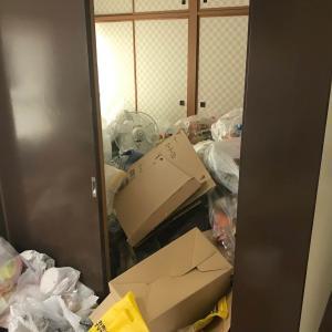 ゴミ屋敷片付け作業風景(現場:長岡市内)
