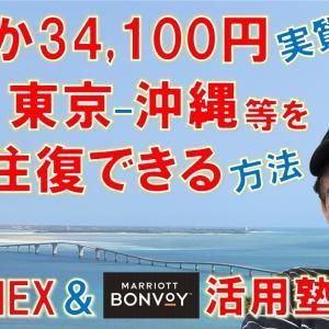 ZOOM無料講座「わずか34,100円(実質)、2人で東京ー沖縄や大阪ー沖縄等をJALで往復でき