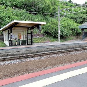 小さな駅で..