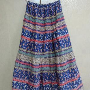 まっすぐ縫う・直線裁ちのティアードスカート。