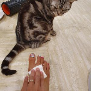 ※汚画像閲覧注意※ 拭き取り化粧水で足の甲を拭いてみた。