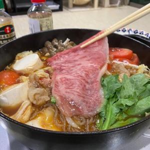 19代目鈴木飯店のお肉でトマトすき焼き