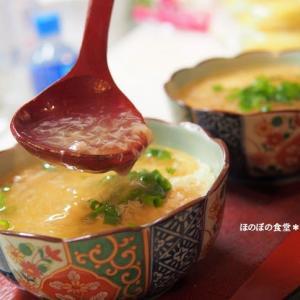豆腐のふわふわ蒸しを作ってみました♪