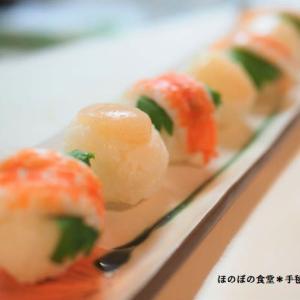 ころころてまり寿司と牡蠣の炒め物♪