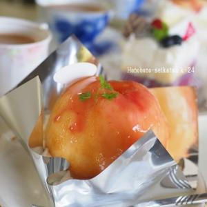 桃の季節のまるごとケーキ♪