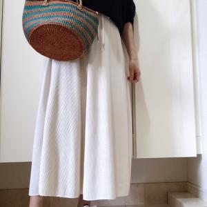 【コーデ】GUワッフルスカート 3色コーデ