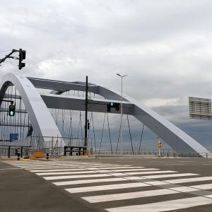 6月20日の開通初日に訪れた『東京港海の森トンネル・海の森大橋』