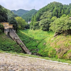 空っぽの鎌北湖、見納めソロツーリング 2021.08.28