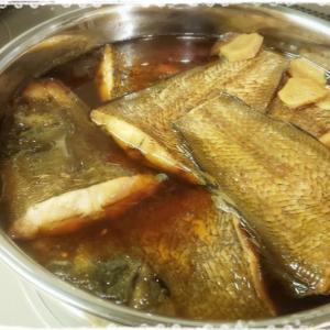 本日の夕飯は魚がメイン