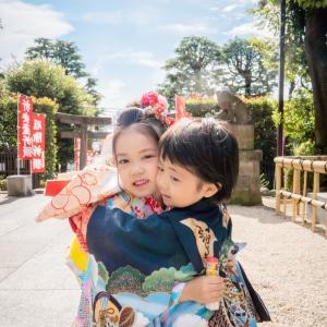 七五三の撮影@沼袋氷川神社 5歳男の子&7歳女の子