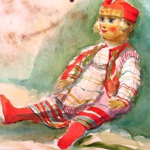 人形を描く