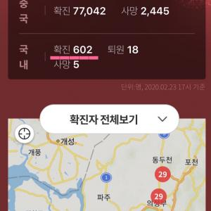 新型コロナウィルス感染者急増の韓国…