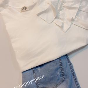 最近ハマりすぎな白Tシャツ&お気に入りコーデ♡