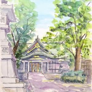 王子神社のスケッチは初めてです
