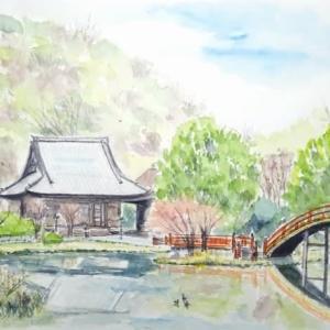 横浜の称名寺、初めてのスケッチでした