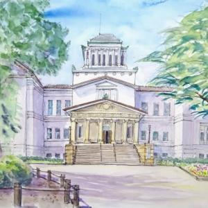 はじめての横浜市大倉山公園でどんなスケッチできたかな?