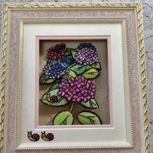 紫陽花のシャドウボックス