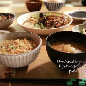 夜カフェ☆ココロモあったまる肉豆腐の夜ごはん