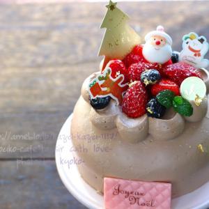甘カフェ☆まだ間に合う!ケーキキットで簡単クリスマス生チョコドームケーキ
