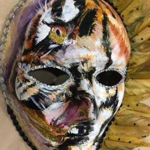 3D風虎の仮面