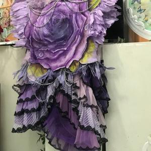 紫の薔薇の源氏コート出来上がり