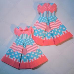 折り紙でドレス
