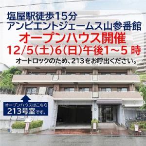 オープンハウス 12/5(土)6(日) 塩屋駅徒歩15分 アンビエントジェームス山参番館