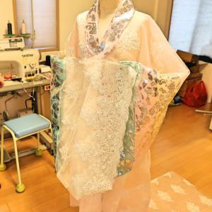 ユリトワ洋裁教室★土日の教室状況★韓国の花嫁衣裳作っています