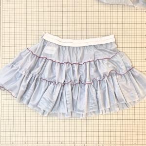 フリフリの4段スカート★トワル組んでみる★型紙の仕事