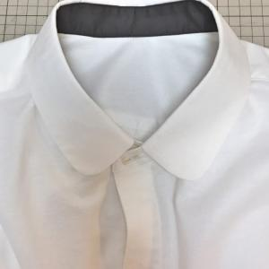 メンズシャツ★お仕立ての仕事★台衿の裏側がちょっと違うよ