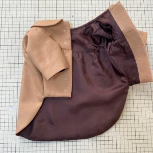 ウールで裏地付きふんわりコート★サンプル作りから★型紙の仕事