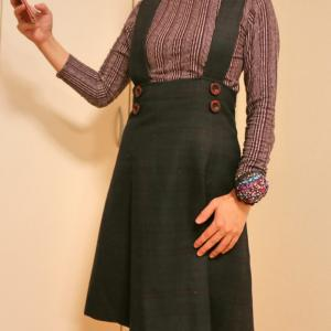 ブラックウォッチ柄のジャンパースカート★私の仕事着★生徒さん達のプロジェクトも