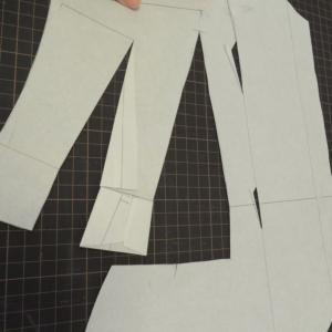 お仕立のジャケットパターン比較★裏地と表地のパターンの違いも