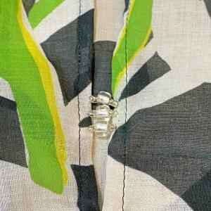 イタリーの綿ローンワンピ縫製過程★三つ折り、ポケットやビーズお見せします
