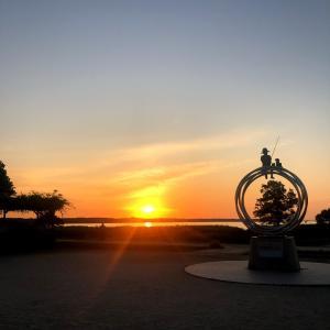 日の出を見に行く早朝ラン
