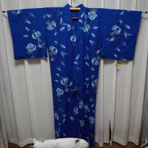 ゆり柄の浴衣完成~