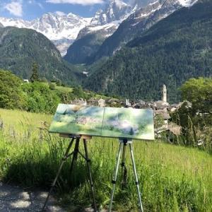スイス・ソーリオで連作スケッチしました!