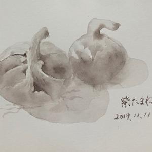 絵具クロッキー~青江塾にて