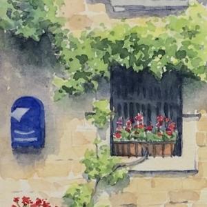 青いポストのある窓辺~in グロジュニアン