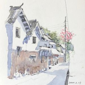 寺内町スケッチ2枚目〜♪