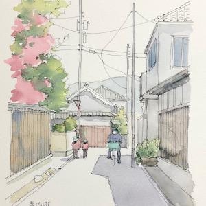 寺内町ペン描き〜♪