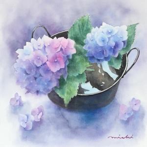 紫陽花を描く〜♪