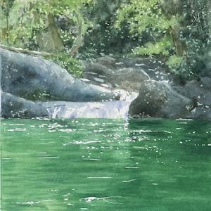 緑の水辺を描く〜あべとしゆき通信講座5月課題