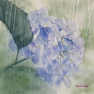 紫陽花に銀の雨が降る〜♪